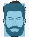 stili_di_barba,viso rettangolare,barba e baffi